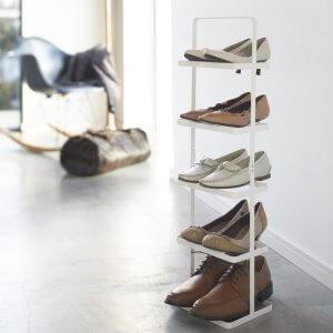 Schuhstaender weiss hoch